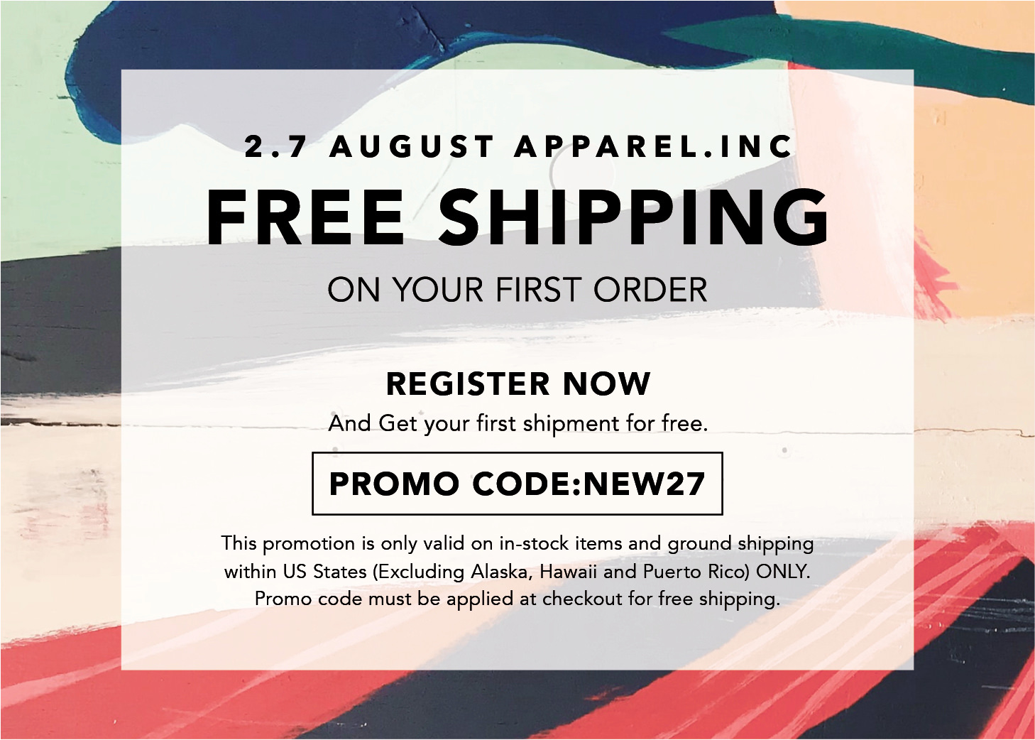Free shipping for the first order