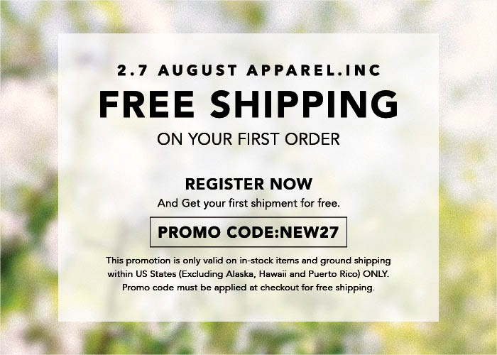 first order free shipping promotion code